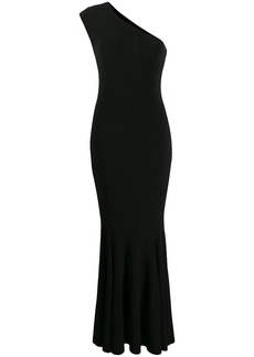 Norma Kamali one-shoulder fishtail gown