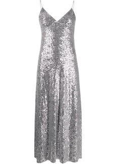 Norma Kamali Overlapping sequin dress