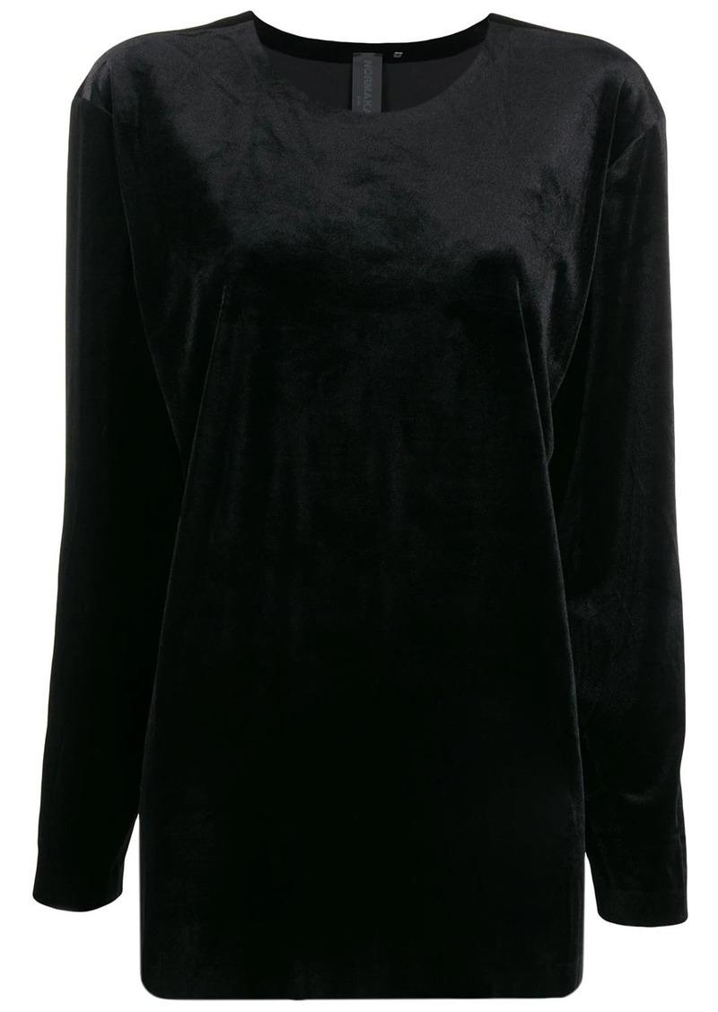Norma Kamali oversized long-sleeve top