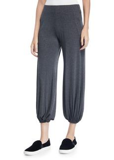 Norma Kamali Puff Cropped Jersey Jogger Pants