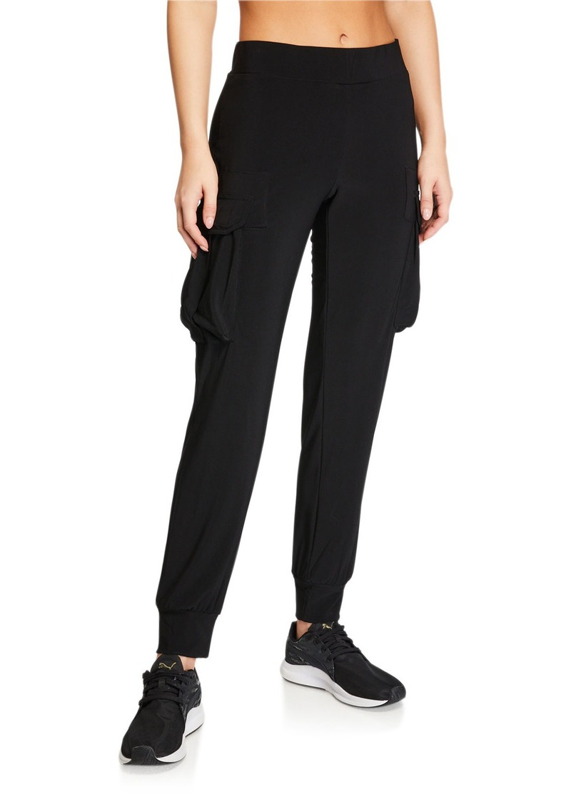 Norma Kamali Pull-On Cargo Jogger Pants