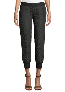 Norma Kamali Quilted Pull-On Jogger Pants
