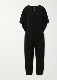 Norma Kamali Rectangle Cropped Stretch-jersey Jumpsuit