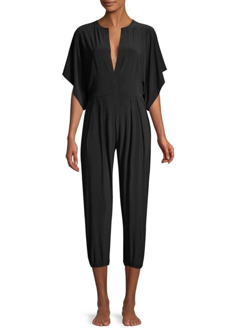 Norma Kamali Rectangular Jog Stretch Jumpsuit