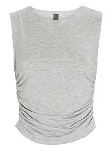 Norma Kamali Shirred Sleeveless Jersey Top