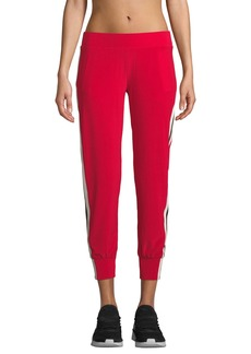 Norma Kamali Side-Stripe Ankle Jogger Pants
