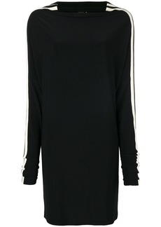 Norma Kamali side stripe detail dress