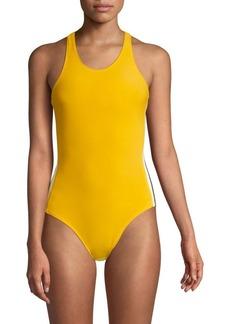 Norma Kamali Side Stripe One-Piece Swimsuit
