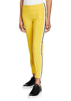 Norma Kamali Side Stripe Pull-On Jogger Pants