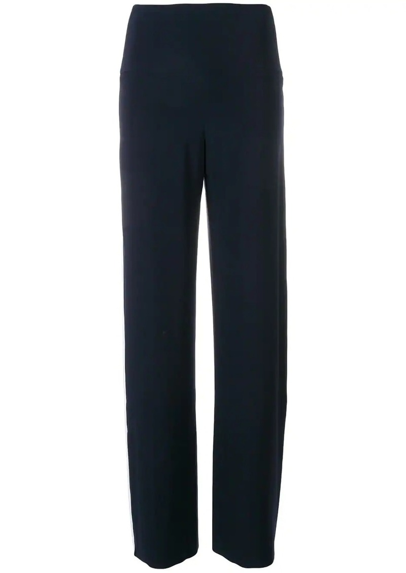 Norma Kamali side stripe track pants