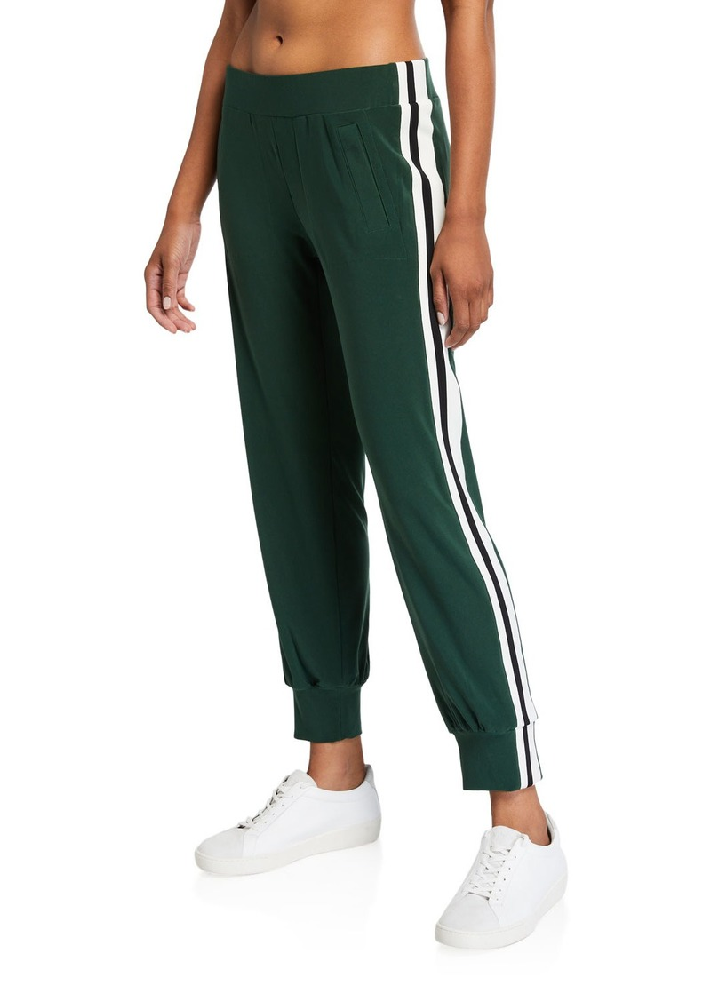 Norma Kamali Side Striped Jogger Pants
