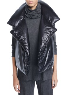 Norma Kamali Sleeping Bag Open-Front Puffer Vest
