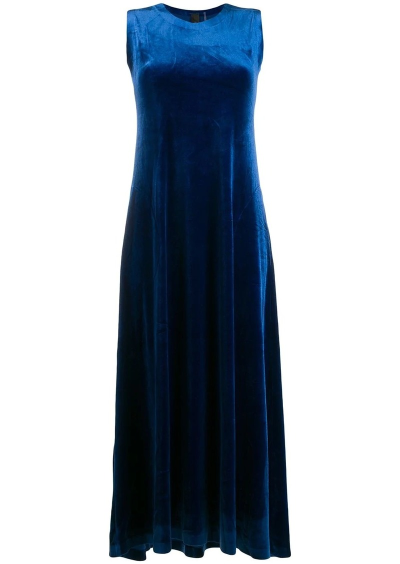 Norma Kamali sleeveless flared dress