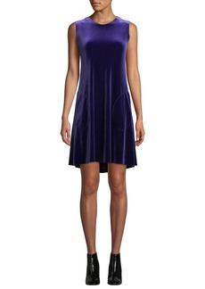 Norma Kamali Sleeveless Velvet Swing Dress