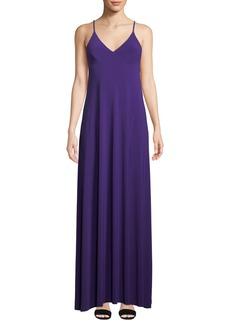 Norma Kamali Slip A Line Long Jersey Dress