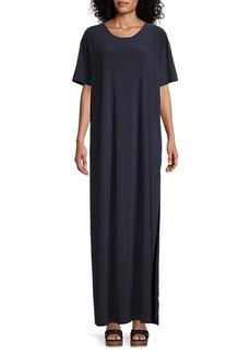 Norma Kamali Slit Boxy Dress