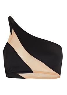 Norma Kamali Snake Mesh Bikini Top