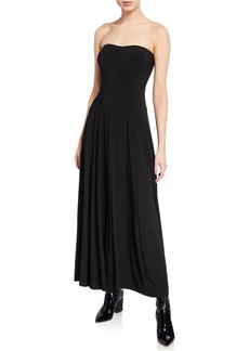 Norma Kamali Strapless Sweetheart Flared Cocktail Dress