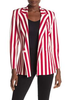 Norma Kamali Stripe Double Breasted Jacket