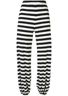Norma Kamali striped jogger trousers