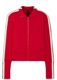 Norma Kamali Striped Stretch-jersey Track Jacket