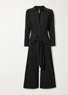 Norma Kamali Tie-front Stretch-jersey Jumpsuit