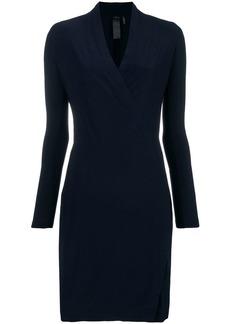 Norma Kamali V-neck fitted midi dress
