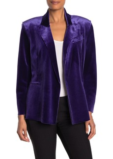 Norma Kamali Velvet Double Breasted Jacket