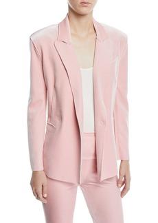Norma Kamali Velvet Double-Breasted Jacket