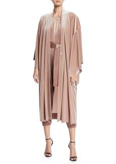 Norma Kamali Velvet Mid-Calf Robe