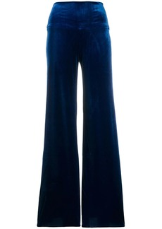 Norma Kamali wide-leg flared trousers