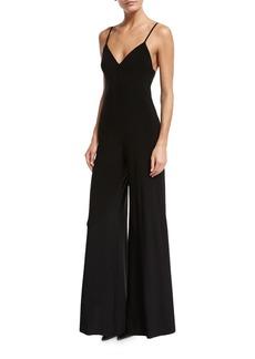 Norma Kamali Wide-Leg Slip Jumpsuit  Black