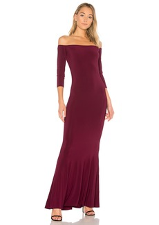 Norma Kamali x REVOLVE Off the Shoulder Fishtail Gown