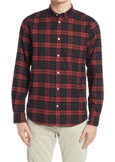 Norse Projects Anton Plaid Brushed Flannel Button-Down Shirt