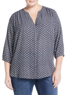 Not Your Daughter's Jeans 3/4 Sleeve Button-Front Blouse