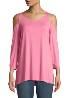 Not Your Daughter's Jeans 3/4-Sleeve Cold-Shoulder Tee