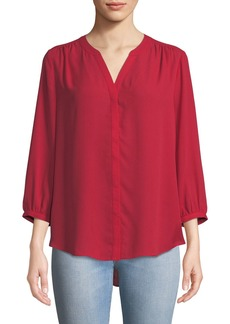 Not Your Daughter's Jeans 3/4-Sleeve Pintuck-Back Chiffon Blouse