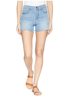 "Not Your Daughter's Jeans 4"" Shorts w/ Fray Hem & Side Slit in Pampelonne"