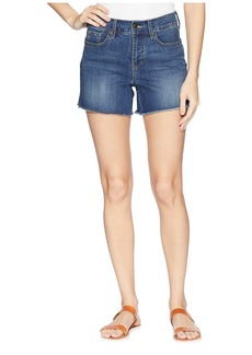 "Not Your Daughter's Jeans 4"" Shorts w/ Fray Hem & Side Slit in Zimbali"