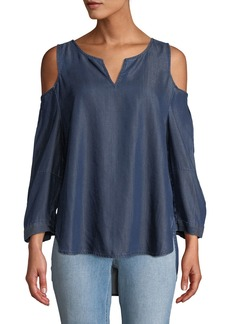 Not Your Daughter's Jeans Agnes Cold-Shoulder Chambray Blouse