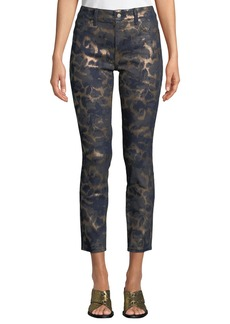 NYDJ Ami Animal-Print Skinny Ankle Pants