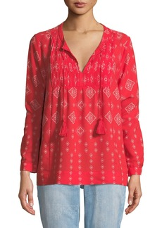 Not Your Daughter's Jeans Bandana-Print Long-Sleeve Blouse
