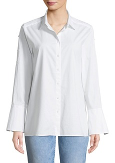 Not Your Daughter's Jeans Bell-Sleeve Button-Front Blouse