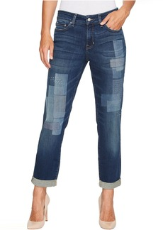 Not Your Daughter's Jeans Boyfriend Jeans w/ Laser Patch and Embroidery in Horizon
