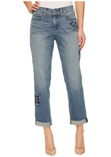 Not Your Daughter's Jeans Boyfriend w/ Floral Embroidery in Pacific