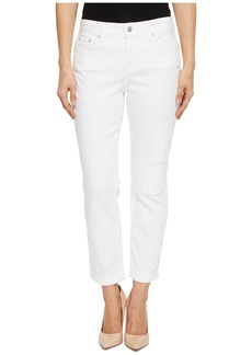 Not Your Daughter's Jeans Boyfriend w/ Patchwork in White