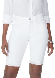 Not Your Daughter's Jeans Briella Eyelet Detailed Denim Shorts