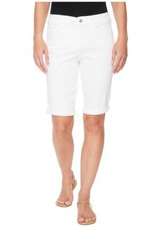 NYDJ Briella Roll Cuff Shorts in Optic White