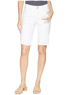 Not Your Daughter's Jeans Briella Shorts w/ Eyelet Embroidery in Optic White