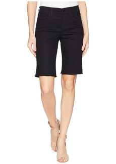 NYDJ Briella Shorts w/ Fray Hem in Black